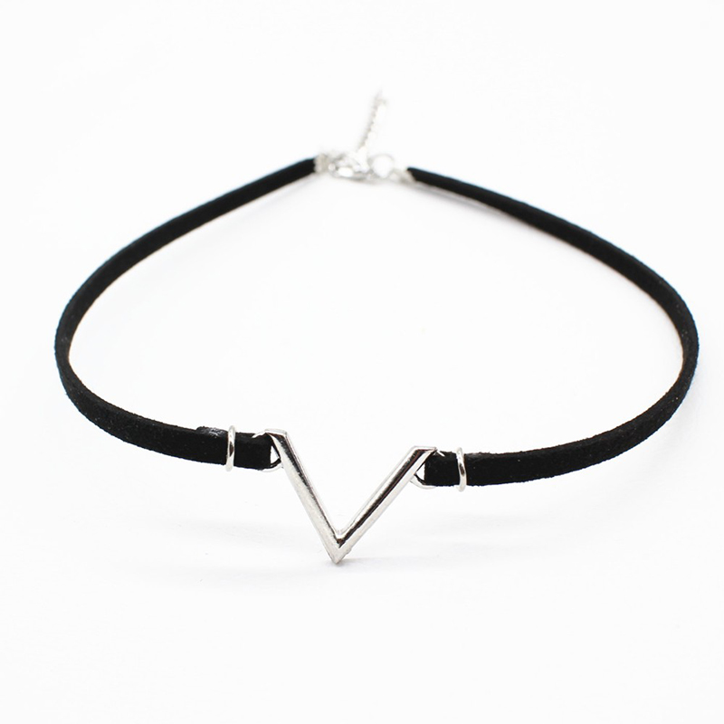 19 New hollow Designs Velvet Chokers Necklace Black Leather Rope Chain layer Chocker Vintage Jewelry for women Collier femme 34