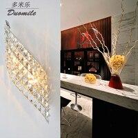 Lâmpadas de parede led moderno design criativo arandelas de parede luzes cabeceira cristal luminárias|Luminárias de parede| |  -