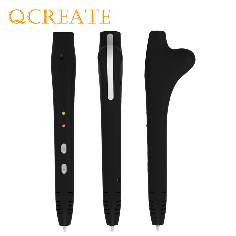 QCREATE QW01-14S 3D Printing Pen with 200 Meters 20 Colors 1.75mm PCL Plastic Filaments 3Doodler Low Temperautre 3D Drawing Pen new arrival 3d printing pen with 100m 10 color or 200 meter 20 color plastic pla filaments 3 d printer drawing pens for kid gift