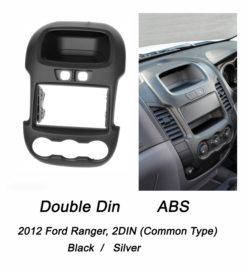 2012 Ford Ranger, 2DIN (Common Type, black or silver)