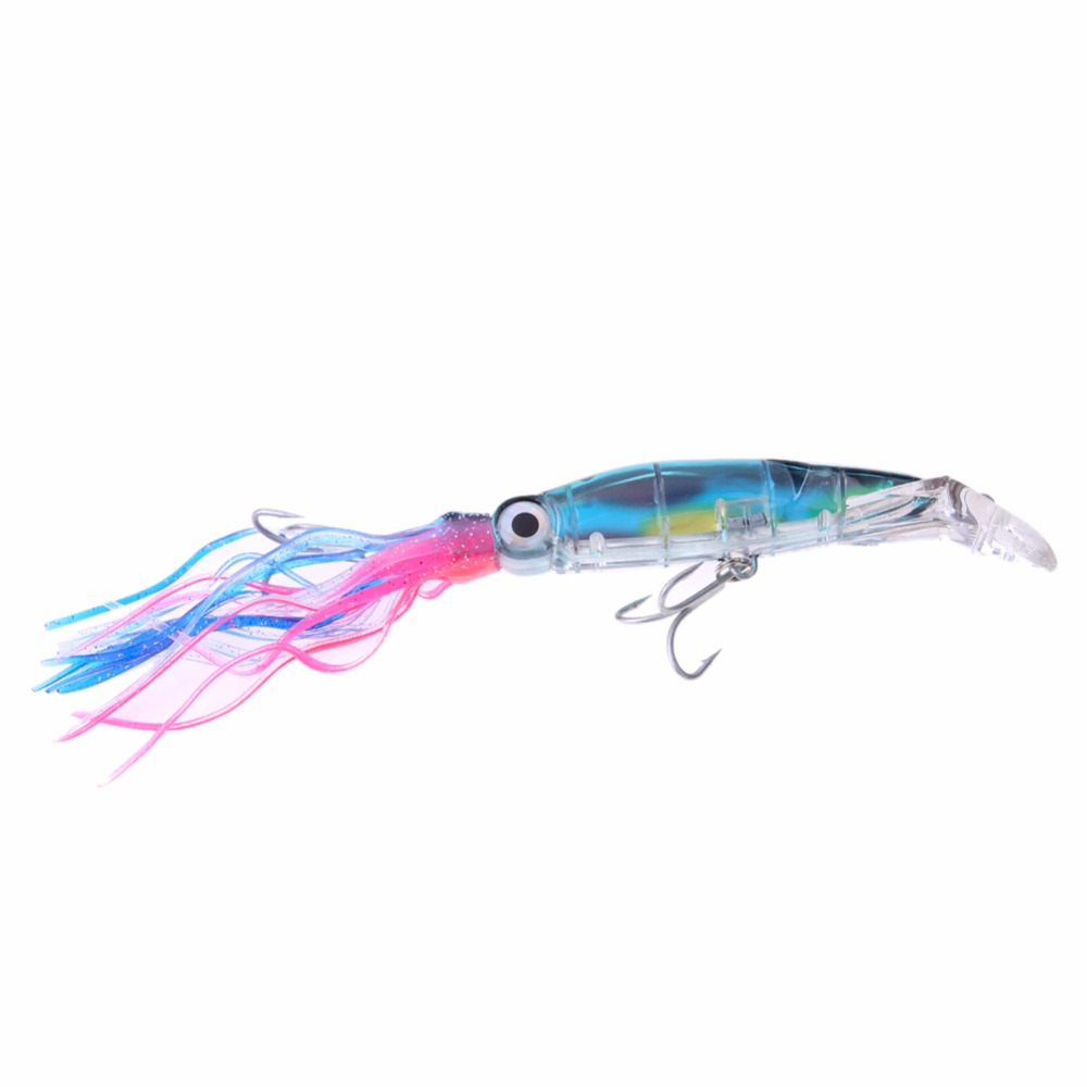 Random color pesca 1pcs soft lures octopus squid jig hooks for Squid fishing lures