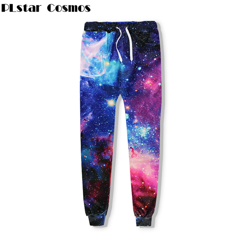 PLstar Cosmos Brand Clothing Space Galaxy Sweat Pants Men/Women Joggers Pants Starry Sky 3d Print Casual O-Neck Hip Hop Trousers