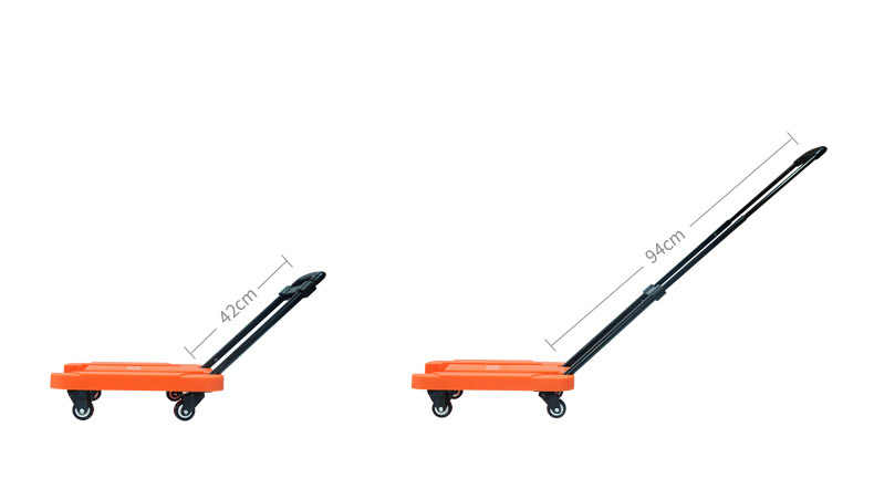 0e74d6bf0 ... Folding Portable Small Travel Luggage Cart Trailer Home Pull Truck Mini  Handle Trolley Four Wheel Labor ...