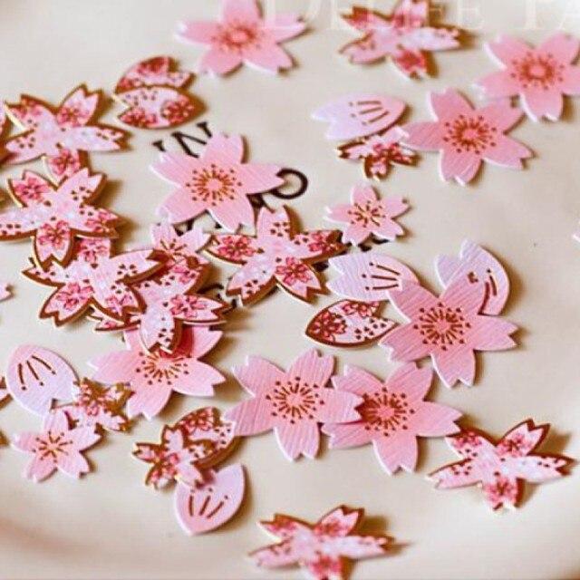 40 Pcs Mix Size Sakura Bunga Kertas Sticker Set Jepang Cherry