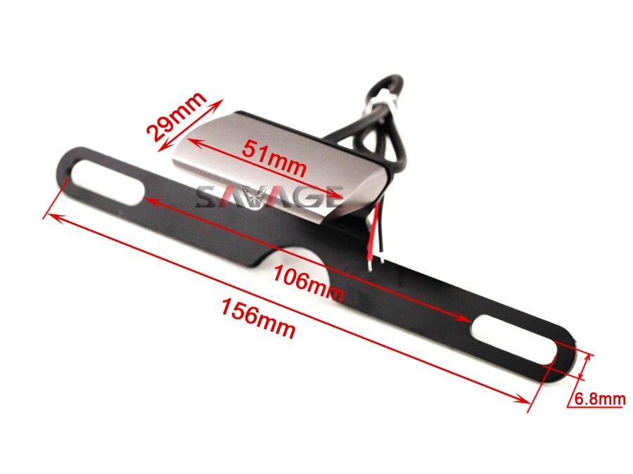 Accesorios de La Motocicleta Universal CNC Placa de Aluminio LED de Luz Para KAW