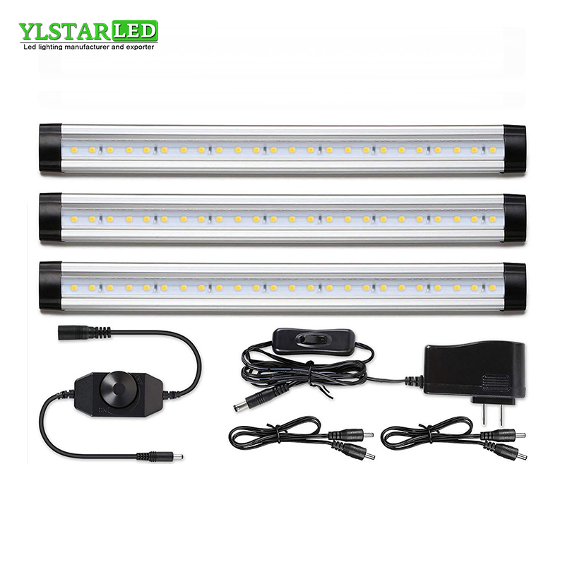 YLSTAR Free shipping 3pcs/set 30CM SMD3528 LED Cabinet Light Adjustable closet Light LED Hard Rigid Bar Kitchen Light light kit