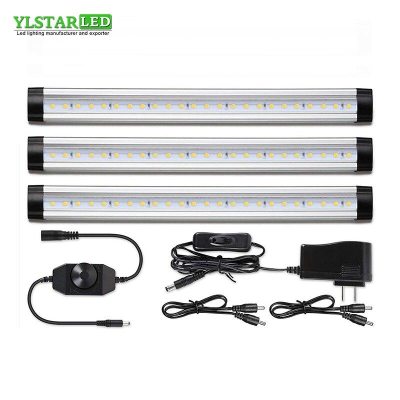 YLSTAR livraison gratuite 3 pièces/ensemble 30CM SMD3528 LED armoire lumière réglable placard lumière LED dur rigide Bar cuisine lumière kit