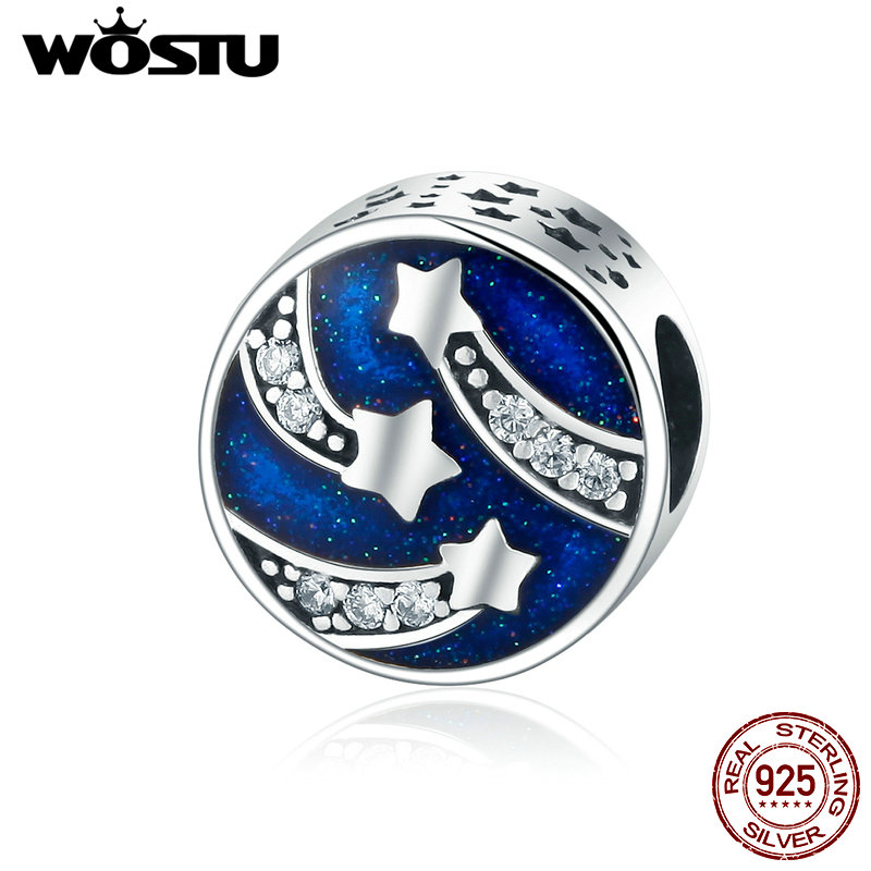 Intellective Wostu Brand 925 Sterling Silver Meteor Star Wish Beads Fit Original Wst Charm Bracelet Diy Jewelry Christmas Gift Dxc268 Ture 100% Guarantee Beads & Jewelry Making Beads