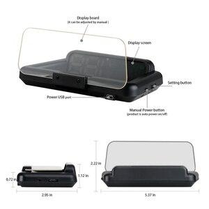 Image 4 - T900 HUD GPS araba Head Up ekran cam hızlı projektör OBD C500 dijital kilometre On kart bilgisayar yakıt kilometre gerilim