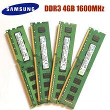 Samsung gb ddr3 pc3 12800u ddr3 1600 mhz, memória ram de desktop 4gb 1rx8 2rx8 PC3-12800U ddr3 1600, ddr3 mhz mhz