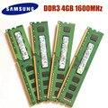 Оперативная память Samsung 4 ГБ DDR3 PC3 PC3L 12800U DDR3 1600 МГц ОЗУ для настольного компьютера оперативная память 4 Гб 1RX8 2RX8 PC3 PC3L 12800U DDR3 1600 МГц