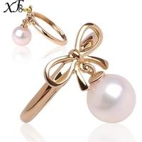 XF800 18 K золотые кольца жемчужное украшение из натурального пресновдного жемчуга обручальные кольца AU750 ювелирные украшения для Для женщин к