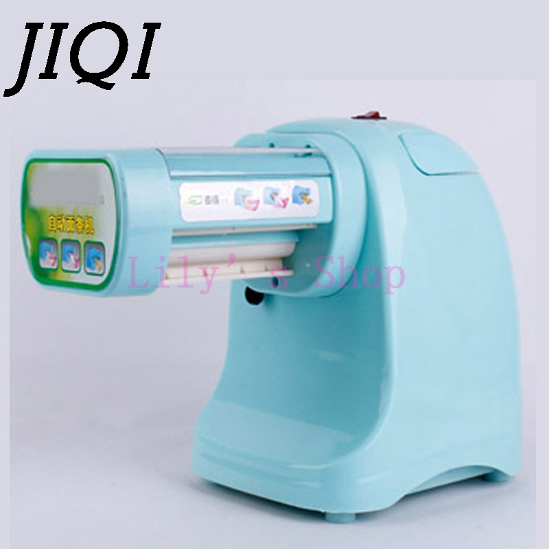Household electric noddles pressing machine commercial pasta maker machine small mini noodle dumpling huntun wrappers EU US plug high quality household manual hand dumpling maker mini press dough jiaozi momo making machine