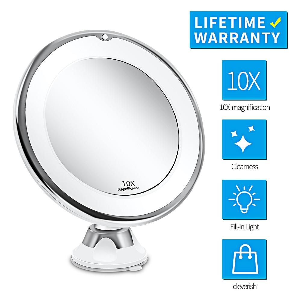 Miroir LED Miroir de maquillage avec lumière LED Miroir de vanité 7X Miroir Grossissant LED Miroir Grossissant livraison directe VIP