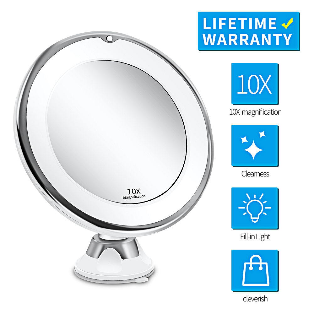 Makeup Vanity Mirror With 10x Lights Led Lighted Portable