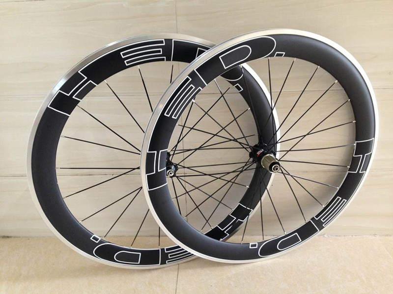 alloy carbon wheels clincher 60mm 700c carbon wheel alloy brake surface aluminium road bicycle wheel R36 hub 23mm width bicycle ironfix 568 60 700