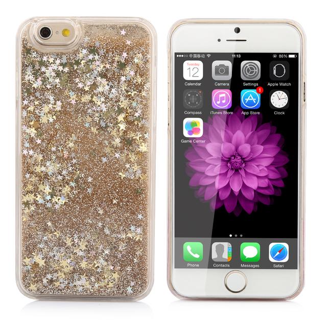 iPhone Dynamic Glitter Liquid Quicksand Cover