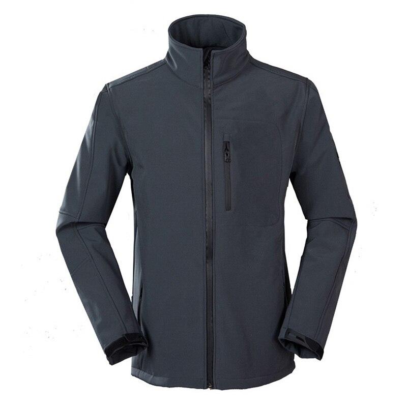 ФОТО New Men Outdoor Hiking Jackets Softshell Men Windstopper Waterproof Warm Windbreaker Camping Jackets Polar Fleece