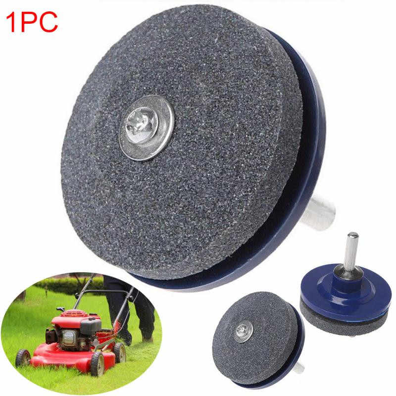 50MM Faster Blade Sharpener Lawn Mower Universal Grinding Rotary Drill Cuts Lawnmower Blade Sharpener &s