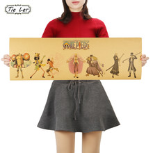 TIE LER Classic Character Cartoon Anime One Piece Wide Version Kraft Paper Poster DIY Wall Sticker Delicate Home Bar Decor Gift(China)