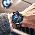 AILANG новые модные роскошные брендовые кожаные часы автоматические механические мужские часы Скелет Мужчины erkek коль saati