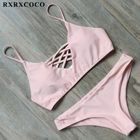 MOOSKINI Sexy Brazilian Bikini 2017 Hot Swimwear Women Swimsuit Cut Up Bandage Top Bikini Set Beach