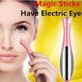 Piel cuidado de la belleza Mini aparato de masaje Electric Eye Massager Facial vibración fina cara mágica Anti bolsa bolsa y la arruga de la pluma