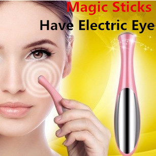 цены Skin Beauty Care Mini Massage Device Electric Eye Massager Facial Vibration Thin Face Magic Stick Anti Bag Pouch &wrinkle Pen