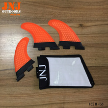 FCS II M G5 size fins made by fiberglass honeycomb material for surfing (Tri-set) FCS 2 G5 with original JNJ bag