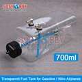 6STARHOBBY 700ml Transparent Fuel Tank High Quality Oil Box for 50-70CC Gasoline / Nitro Airplanes
