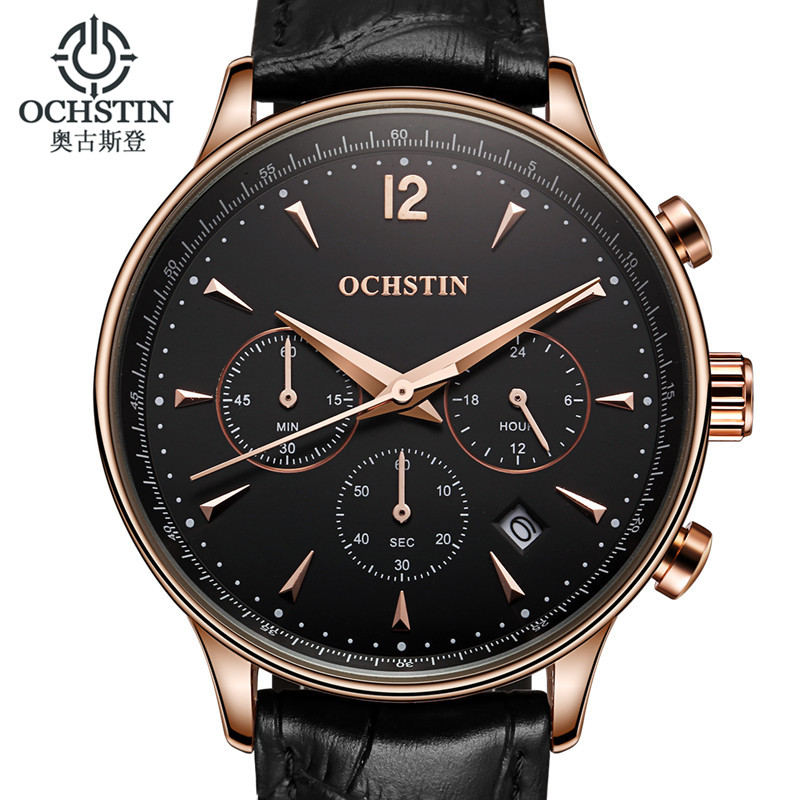 OCHSTIN Watch Men Luxury Brand Quartz-Watch Men's Watch Clock Wrist watches Male relogio masculino de luxo Fashion reloj hombre black star wars galactic empire badge pattern quartz pocket watch with key chain male female clock reloj de bolsillo masculino