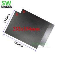 A + B 232x154mm Magnética Cama Impressão Flashforge Impressão Fita Etiqueta Fita Placa Construir Flex Placa de Atualização criador Pro/Sonhador 3D Impressora|Peças e acessórios em 3D| |  -