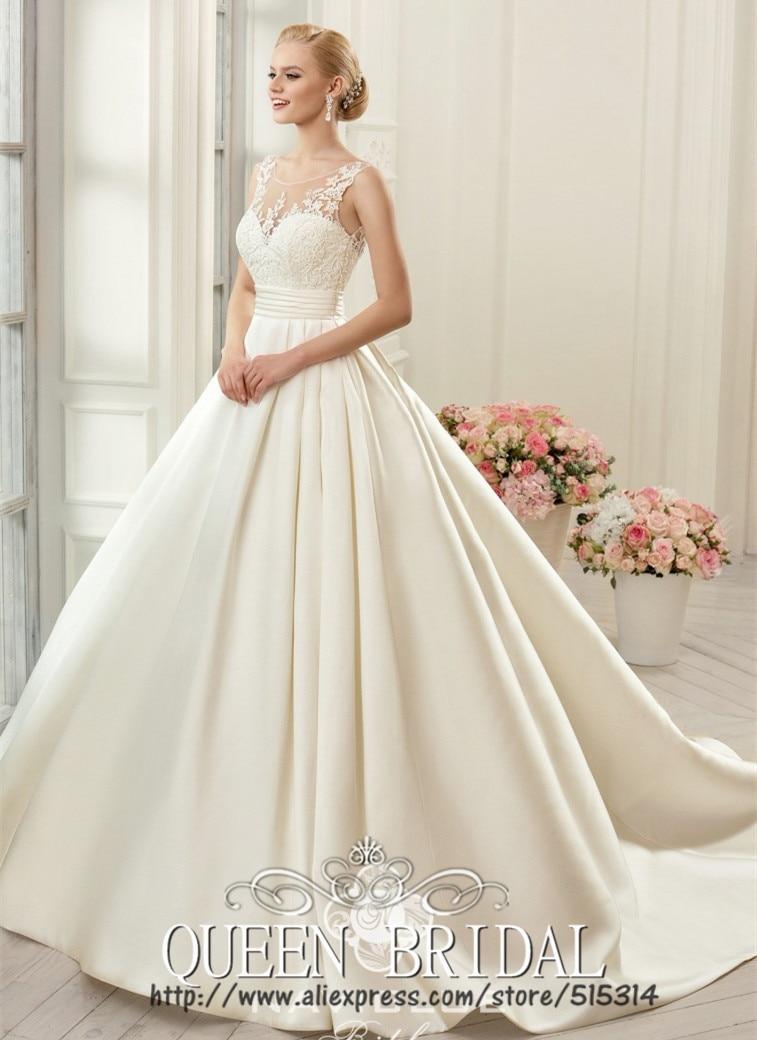Buy vintage princess ball gown wedding for Long silk wedding dress
