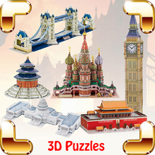 Free Shipping Z-B105 Bangkok The Marble Temple Construction Puzzle 3D Building Model DIY EPS Learning Toy Build Your Fun