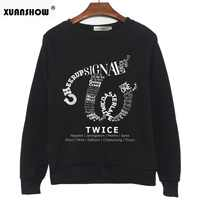 XUANSHOW TWICE Kpop Sweatshirt Hip Hop Album Shirt Casual Letters Printed Hoodies Clothes Pullover Printed Long Sleeve Tops