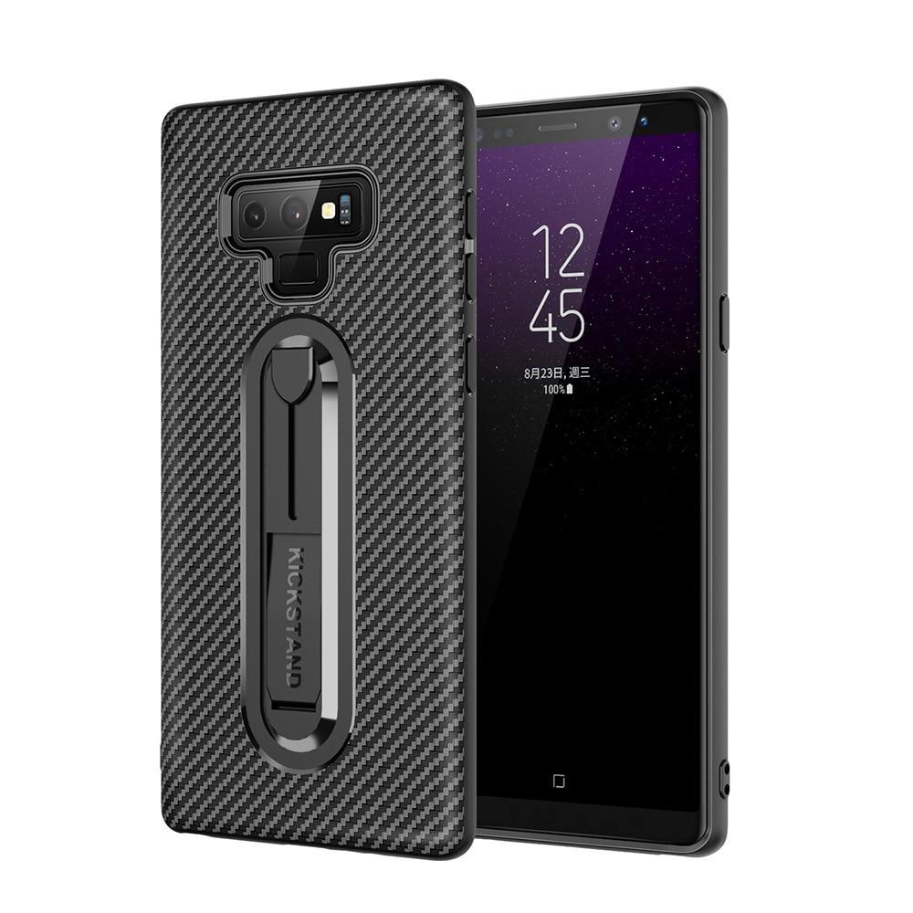 For  Samsung Carbon Fiber Phone Case Invisible Bracket TPU Soft Shell Samsung S9/S9 Plus/S7/S8/S10/Plus/S10e