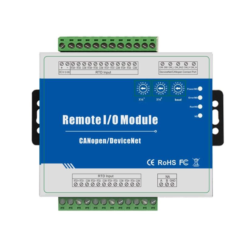 CANopen RTD Remote IO Module Measure Range -120 ~420 Celsius Degree Support Predefined Master/Slave   M340C