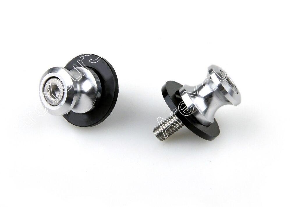 Areyourshop Silver Aluminum 8mm Swingarm Spools Slider Stand for Suzuki SV650/S SV1000/S TL1000R TL1000S TL1000R GSXR600
