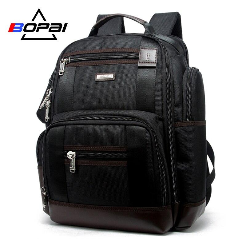Mochila de viaje multifunción de marca BOPAI, bolso de hombro de gran capacidad, mochila para ordenador portátil, mochila de moda para hombres, tamaño 43*35*20cm
