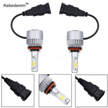 kebedemm Car Headlight 72W LED Headlights Bulb S2 H4 H7 H13 H11 H1 9005 9006 H3 9004 9007 9012 COB 8000LM Fog Light 6500K 12V(China)