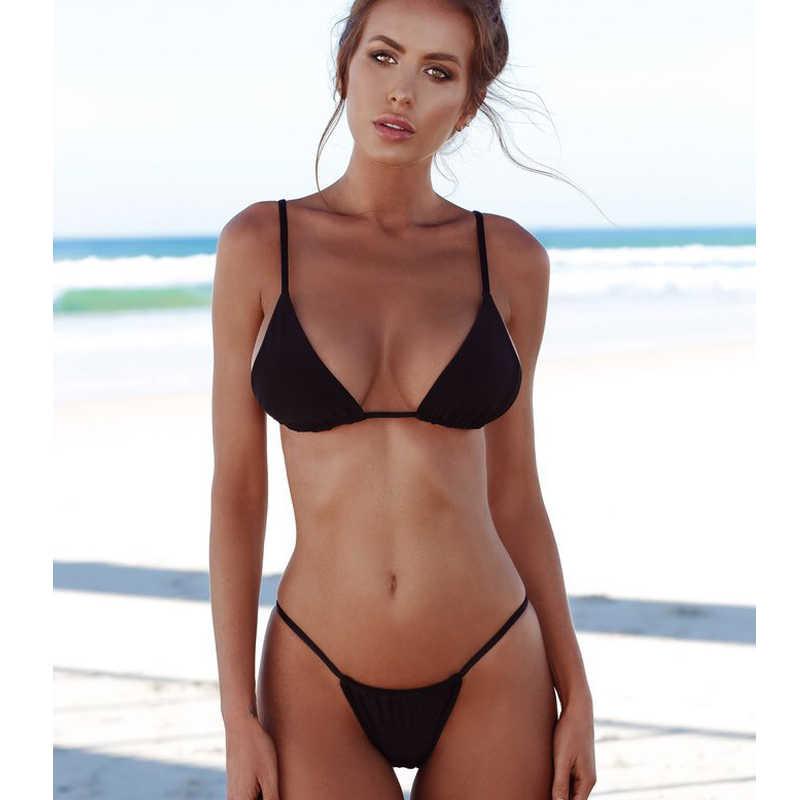 d23c8ed624a ... Bikini Women For Beach 2019 Swimsuit Push Up Micro Thong Bathing Suit  Swimwear Women Sheer Bikini ...
