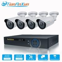TIANANXUN Security Camera System 4ch CCTV System DVR DIY Kit 4 x 1080P Security Camera 2.0mp Camera Surveillance System