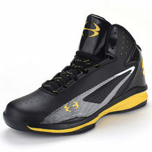 2016 Men Sneakers Black and Yellow Basketball Boots Indoor Basketball Shoes