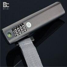 Becbi 50 kg/110lbs 여행자 전자 저울 수하물 무게 규모를위한 편리한 버블 레벨 및 테이프 측정기가있는 수하물 규모