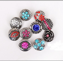 new fation  12mm small 50pcs/lot mix styles colors  button snap jewelry interchangeable ginger snap button charm все цены