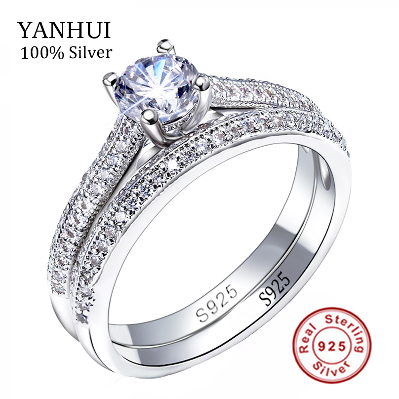 Victoria Wieck Real Solitaire 5mm Sona CZ Diamant Engagement Ring 925 Sterling Silver Women Wedding Ring