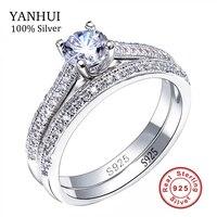 Victoria wieck gerçek solitaire 5mm sona cz diamant nişan yüzüğü 925 ayar gümüş kadın alyans band takı boyutu 4-10