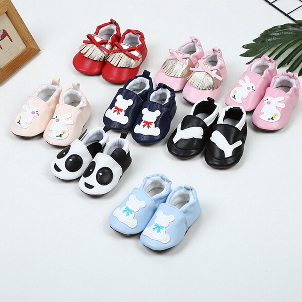 New Baby Soft Sole Leather Infant Boys Girls Shoes No Slip Prewalkers