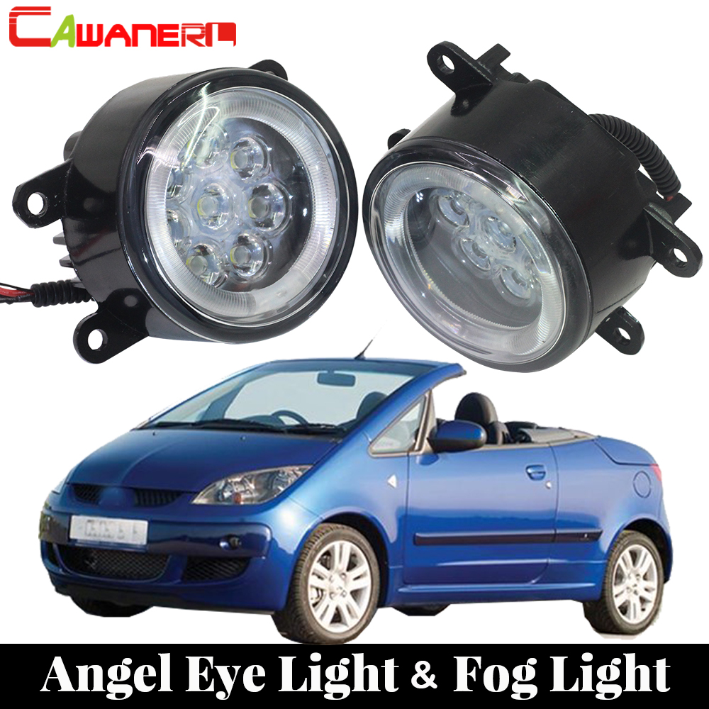 Cawanerl For 2006-2009 Mitsubishi Colt CZC Convertible (RG) Car LED Fog Light Angel Eye Daytime Running Light Lamp DRL 2 Pieces