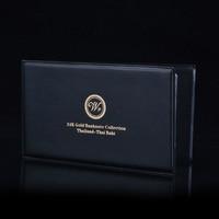 Bhumibol Adulyadej Thailand Baht Gold Banknote Leather Baht Album Souvenir Gift